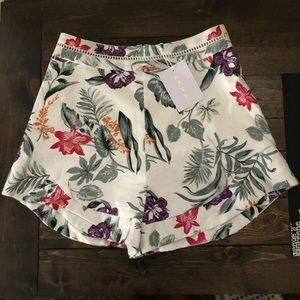 WAYF High Waisted Floral Shorts